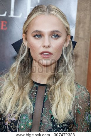 Madison Iseman at the Los Angeles premiere of 'Annabelle Comes Home' held at the Regency Village Theatre in Westwood, USA on June 20, 2019.