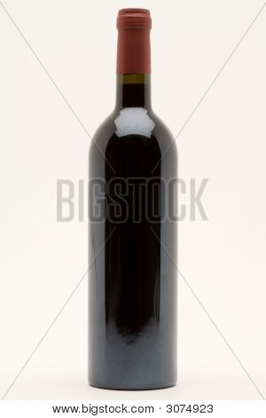 Isolated Red Wine Bottle