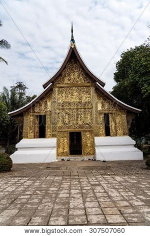 Wat Xieng Thong Or The Golden City Temple. The Most Important Buddhist Temple In Unesco World Herita