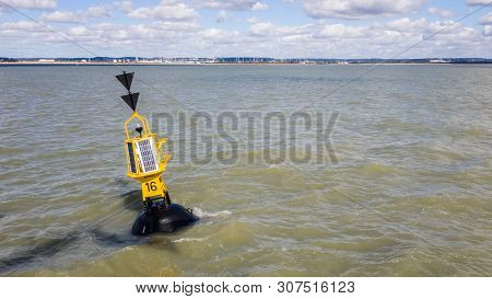 Southern Cardinal Mark. Is A Buoy Used In Maritime Pilotage To Indicate The Position Of A Hazard And