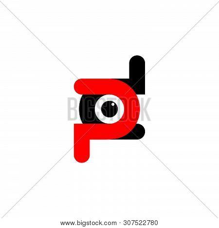 Letter Pd Simple Dot Logo Vector Unique Unusual Design Concept