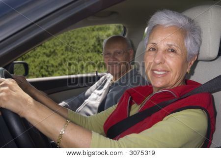 Out For A Drive, Focus On Woman