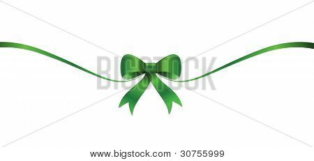 St Patricks green bow and ribbon