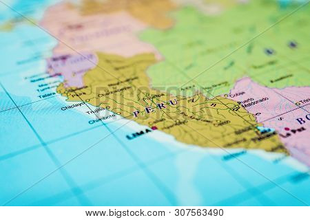 Peru Map Background, Detailed Atlases For Travelers