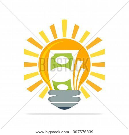 Vector Icon Illustration With The Concept Of Creative Ideas That Make Money