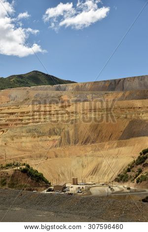 Heavy Equipment For Metal Ore Mining On A Mountain Side