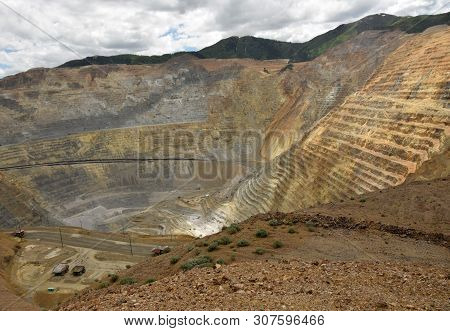 Heavy Mining Equipment In A Large Copper Mine