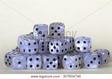 A Pile Of Dice Used For Gambling.