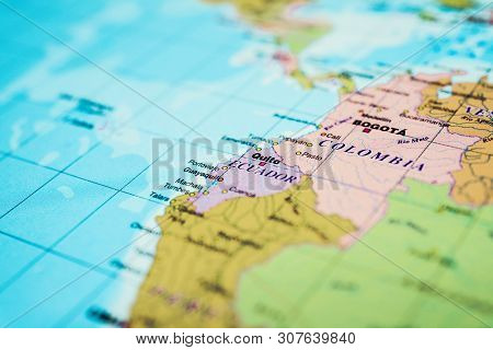 Ecuador Map Background, Detailed Atlases For Travelers
