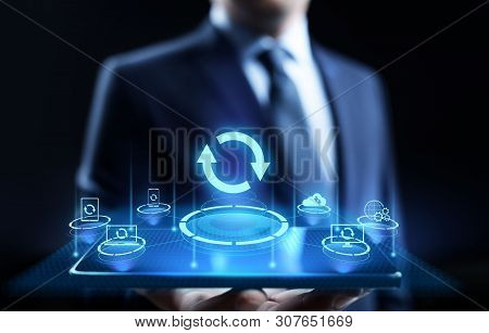 Update Software Application And Hardware Upgrade Technology Concept.
