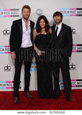 LOS ANGELES - NOV 20:  Lady Antebellum arrives to the American Music Awards 2011  on November 20, 2011 in Los Angeles, CA