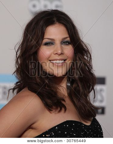 LOS ANGELES - NOV 20:  Hillary Scott (Lady Antebellum) arrives to the American Music Awards 2011  on November 20, 2011 in Los Angeles, CA