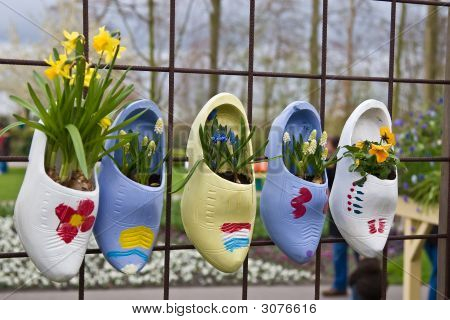 Clogs And Flowers