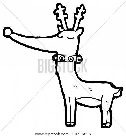 proud reindeer cartoon poster