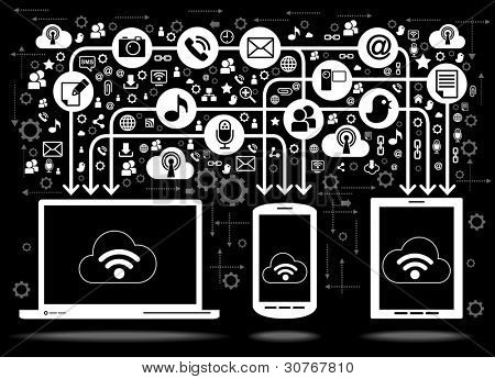 social media, communication in the global computer networks