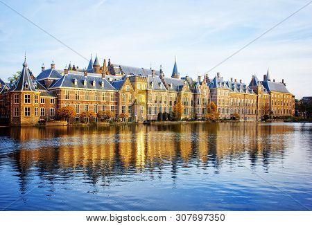 Binnenhof Dutch Parliament , The Hague Den Haag , Netherlands At Fall