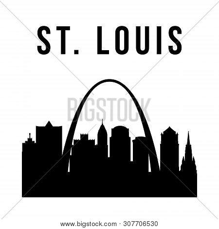 St.louis City Simple Silhouette. Modern Urban Background. Vector Skyline.