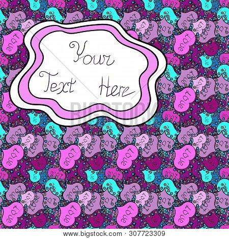 Border Indian Paisley Patten. Vector Henna Style. Seamless Ornament Print. Can Be Used For Greeting