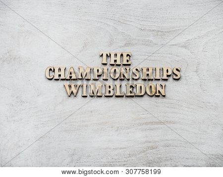 Wimbledon. Beautiful, Bright Photo For Invitation Card