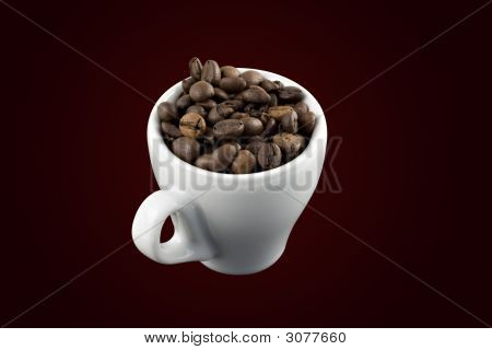 Classic White Espresso Cup With Clipping Path