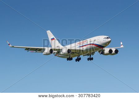 Moscow, Russia - May 19, 2019: Aircraft Ilyushin Il-96-300 Ra-96023 Of Rossiya - Special Flight Deta