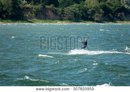 Kite Surfers Race Across The Baltic Sea