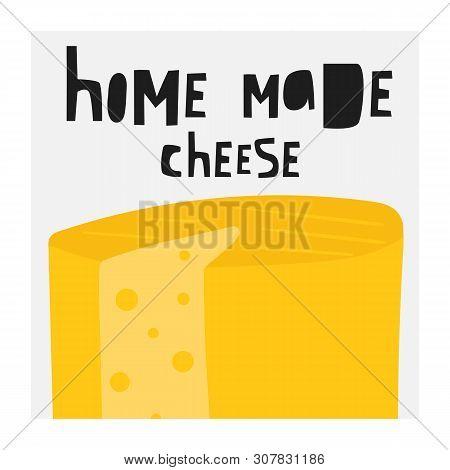Hand Drawn Cheese Collection Including Feta, Mozzarella, Swiss, Roquefort, Edam, Maasdam, Parmesan,