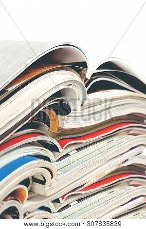 Newspaper And Journal. Entertainment And Leisure. Publication In Magazin And Books Background. Fashi