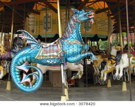 Carousel Horse - Flying Dragon