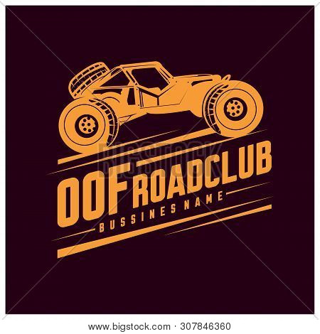 Off-road Car Logo Illustration. Off-road 4X4 Extreme Car Club Logo Templates. Vector Symbols