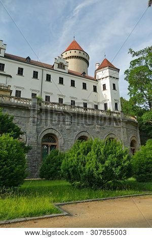 State Castle Konopiste In Spring, South Court