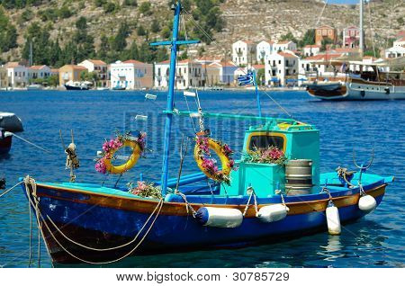 Decorated Greek Fishing Boat