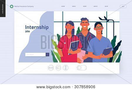 Medical Insurance -medical Internship Jobs -modern Flat Vector Concept Digital Illustration - Young