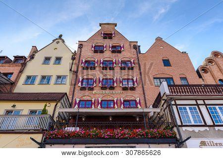 Gdansk, Poland - June 22, 2019: Architecture Of Historic Gdansk. Europe.