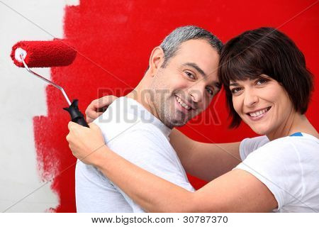 couple of diy painting it red