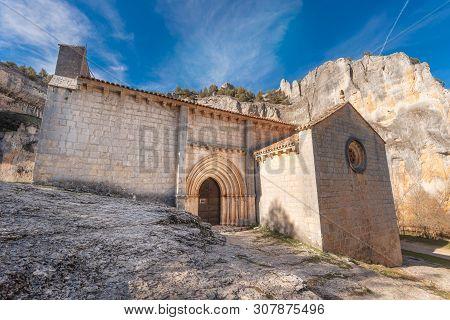 Hermitage Of San Bartolome, Canyon Of The River Lobos, Soria, Castilla Y Leon, Spain .