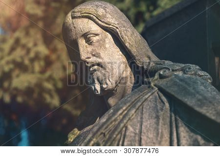 Sculpture Of Jesus. Unknown Artist Of The 19th Century