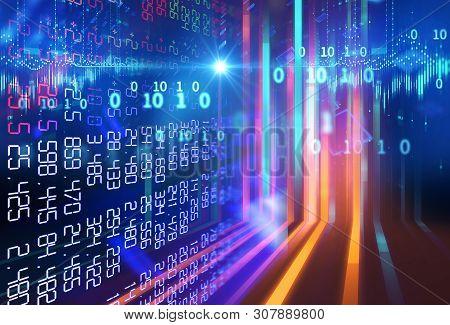 3D Rendering Of  Stock Exchange Display Panel