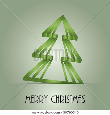 Card With A Christmas Theme