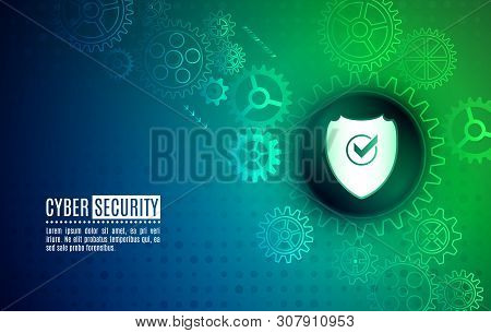 Cybersecurity For Business And Internet Project. Data Protection, Privacy, And Internet Security Con