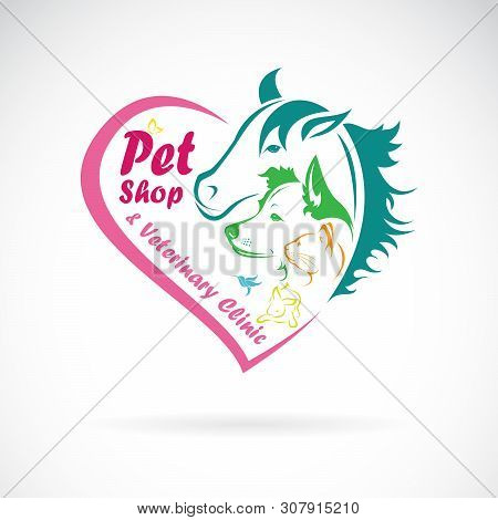 Vector Of Pet Shop And Veterinary Clinic On A White Background. Pet. Animals., Pet Shop Logo Or Icon