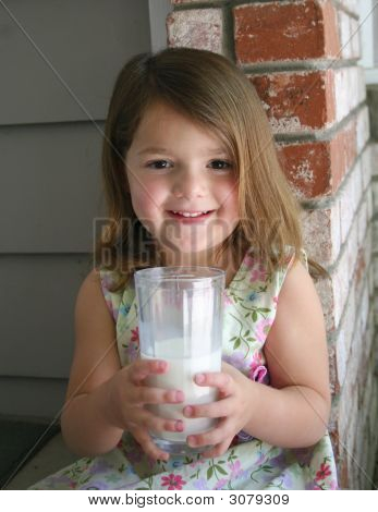 Girl With A Glass Of Milk
