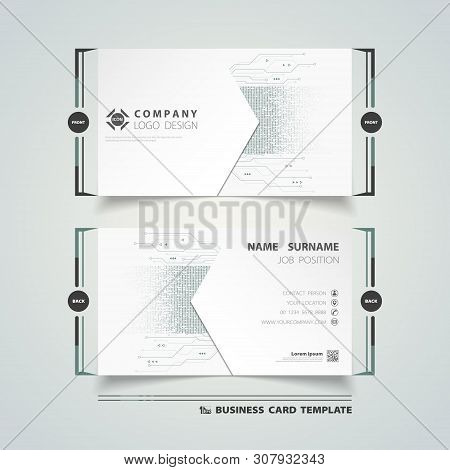 Abstract New Digital Futuristic Name Card Template Design Background For Corporate. Illustration Vec