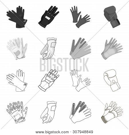 Isolated Object Of Knitted And Keeper Icon. Set Of Knitted And Hand Stock Vector Illustration.