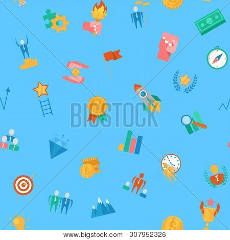 Motivation Icons Vector Motivated Business Signs To Inspire For Achievement Goals And Success Illust