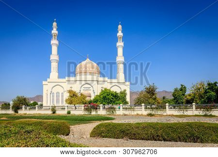 Sultan Qaboos Mosque in Rustaq, Oman