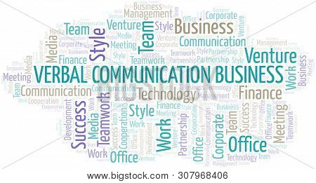 Verbal Communication Business Word Cloud. Collage Made With Text Only.