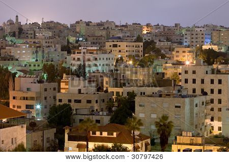 Living District Amman City At Night