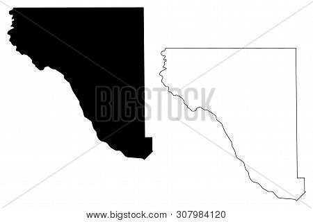 El Paso County, Texas (counties In Texas, United States Of America,usa, U.s., Us) Map Vector Illustr