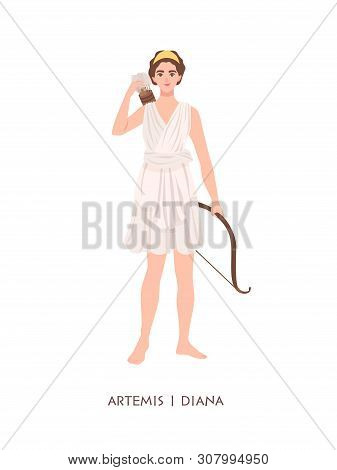 Artemis Or Diana - Goddess Or Deity Of Hunt, Moon And Chastity In Greek And Roman Pantheon. Young My